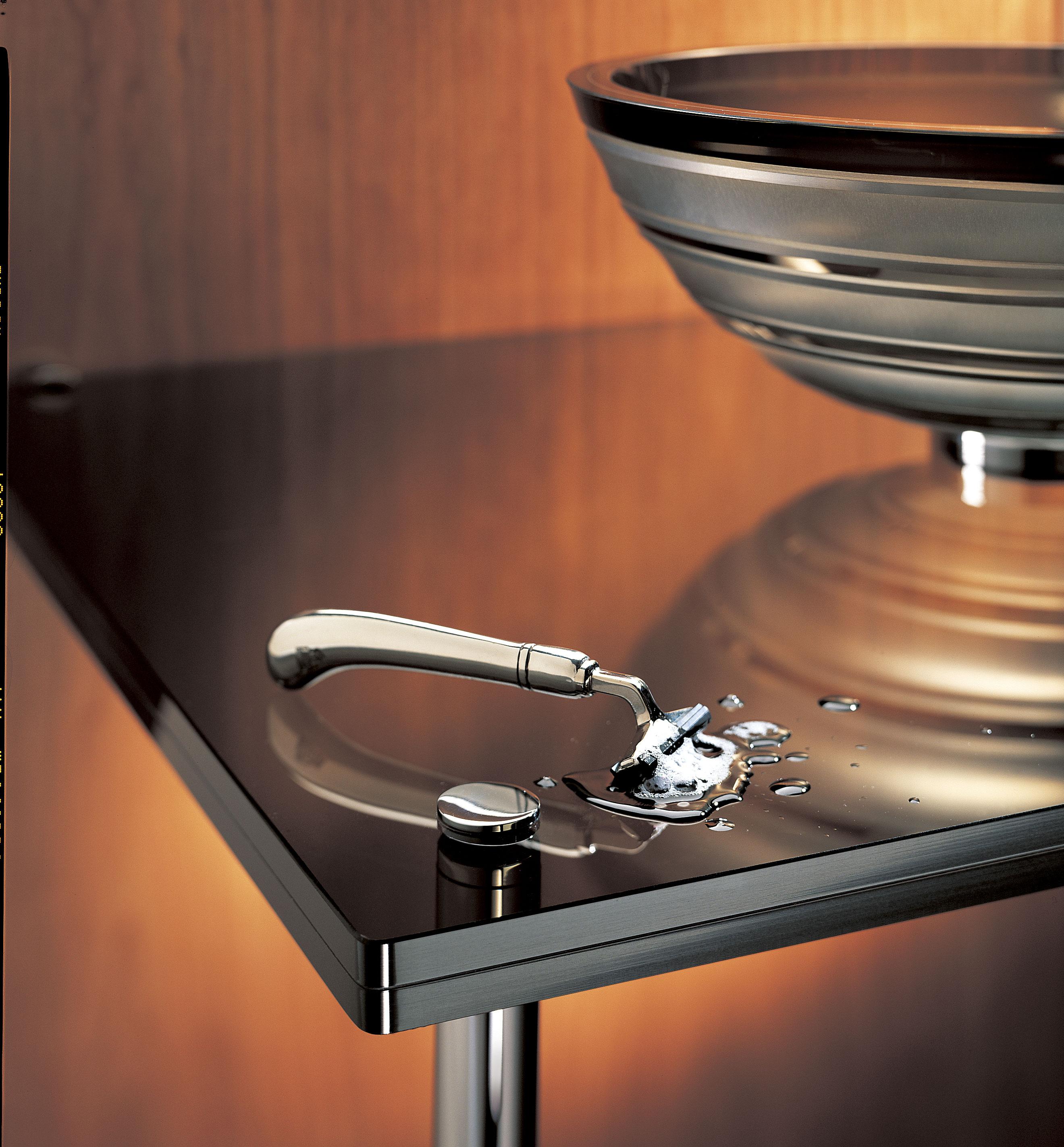 Bronze Modern Bath Glass Basin